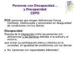 personas con discapacidad y discapacidad cdpd