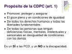 prop sito de la cdpc art 1