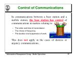 control of communications