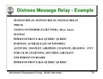 distress message relay example