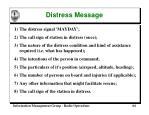 distress message