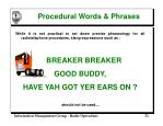 procedural words phrases