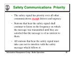 safety communications priority