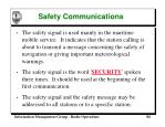safety communications