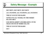 safety message example