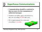superfluous communications