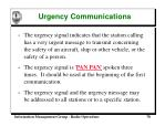 urgency communications