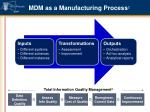 mdm as a manufacturing process 2