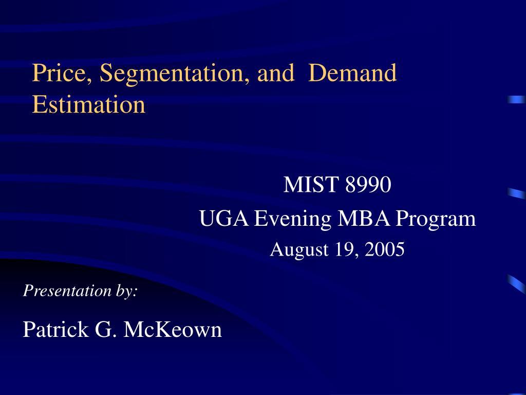 price segmentation and demand estimation l.