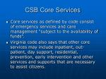csb core services