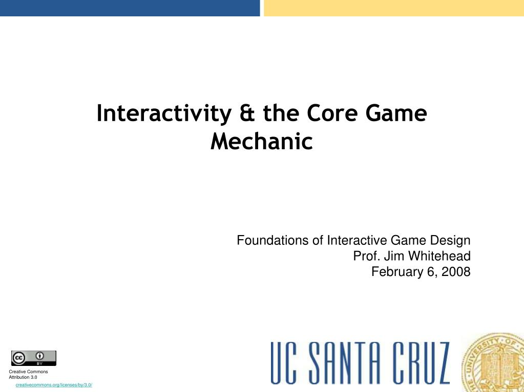 interactivity the core game mechanic l.