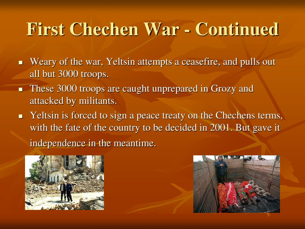 First Chechen War - Continued