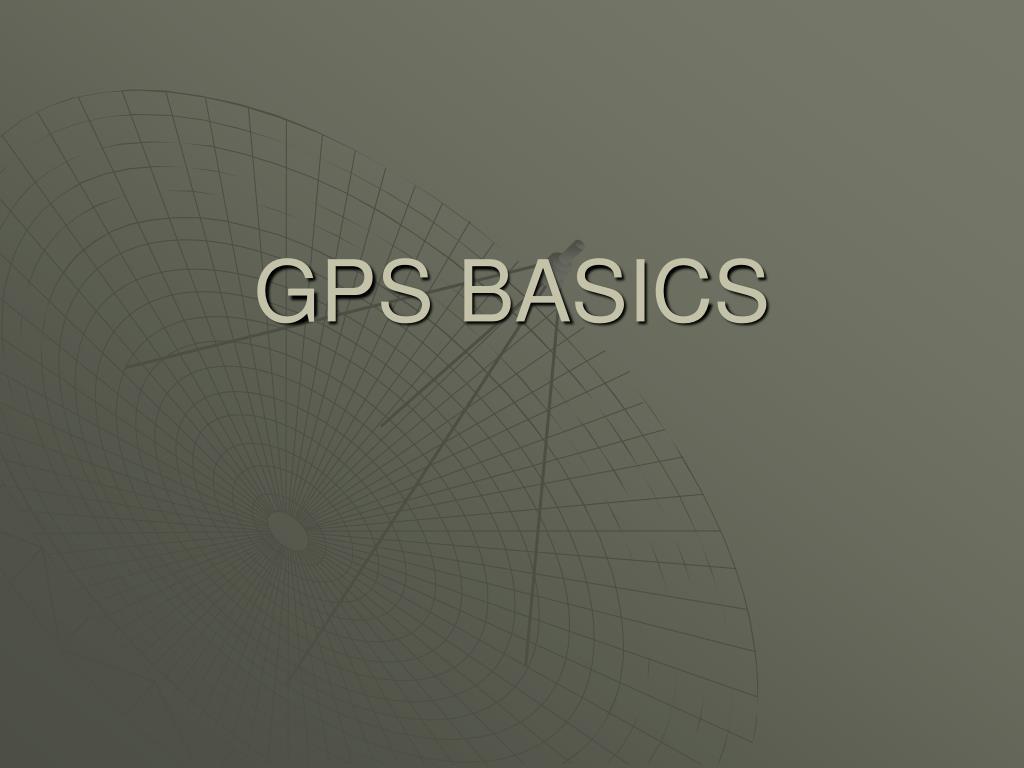 gps basics l.