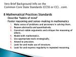 very brief background info on the common core state standards ccss or cc cont