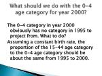 what should we do with the 0 4 age category for year 2000