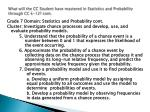 what will the cc student have mastered in statistics and probability through cc k 12 cont16