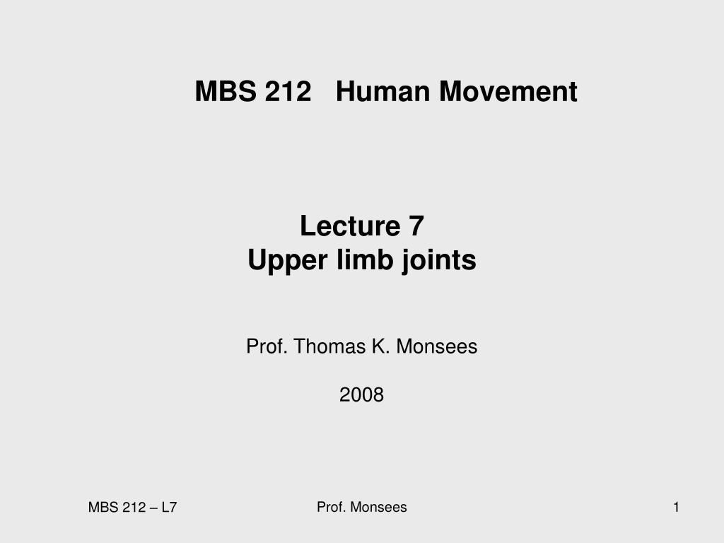 mbs 212 human movement l.