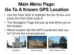 main menu page go to a known gps location27