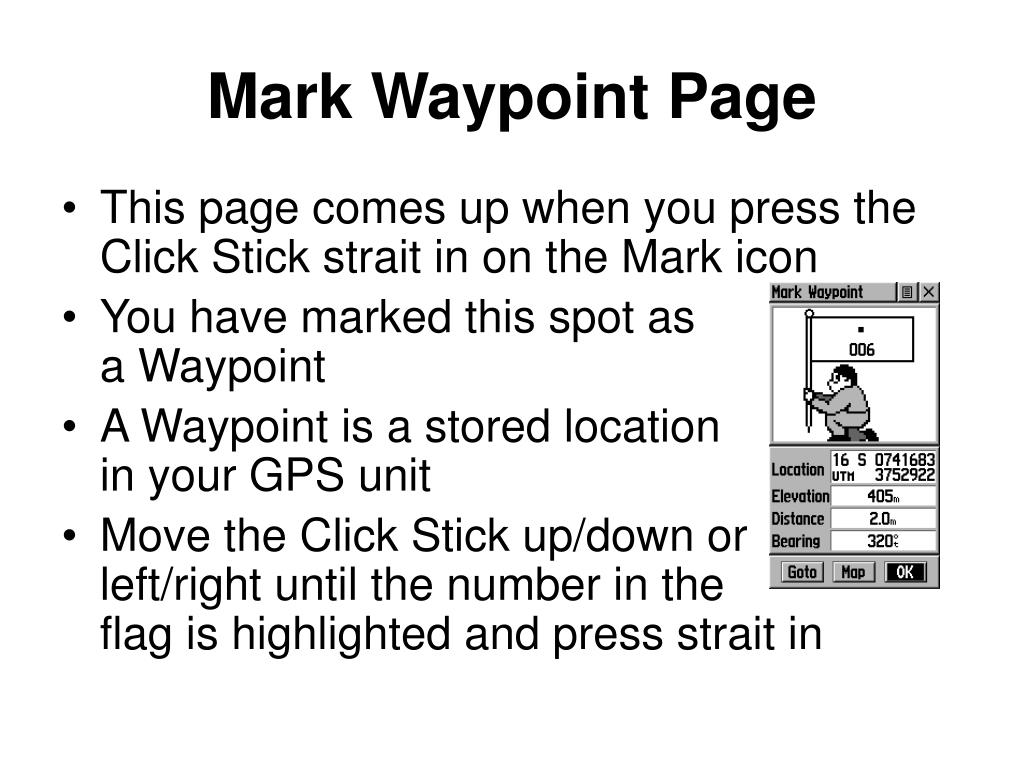 Mark Waypoint Page
