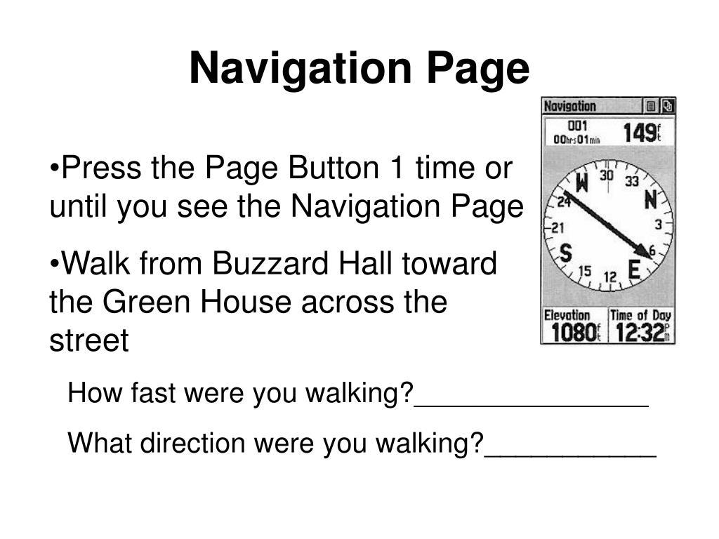 Navigation Page