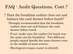 faq audit questions cont