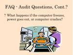 faq audit questions cont3