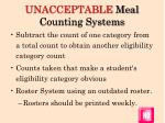 unacceptable meal counting systems2