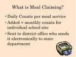 what is meal claiming