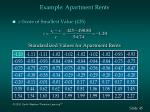 example apartment rents45