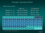 example apartment rents52