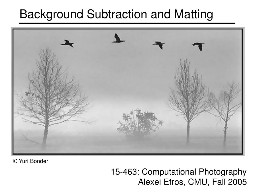background subtraction and matting l.