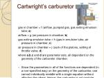 cartwright s carburetor