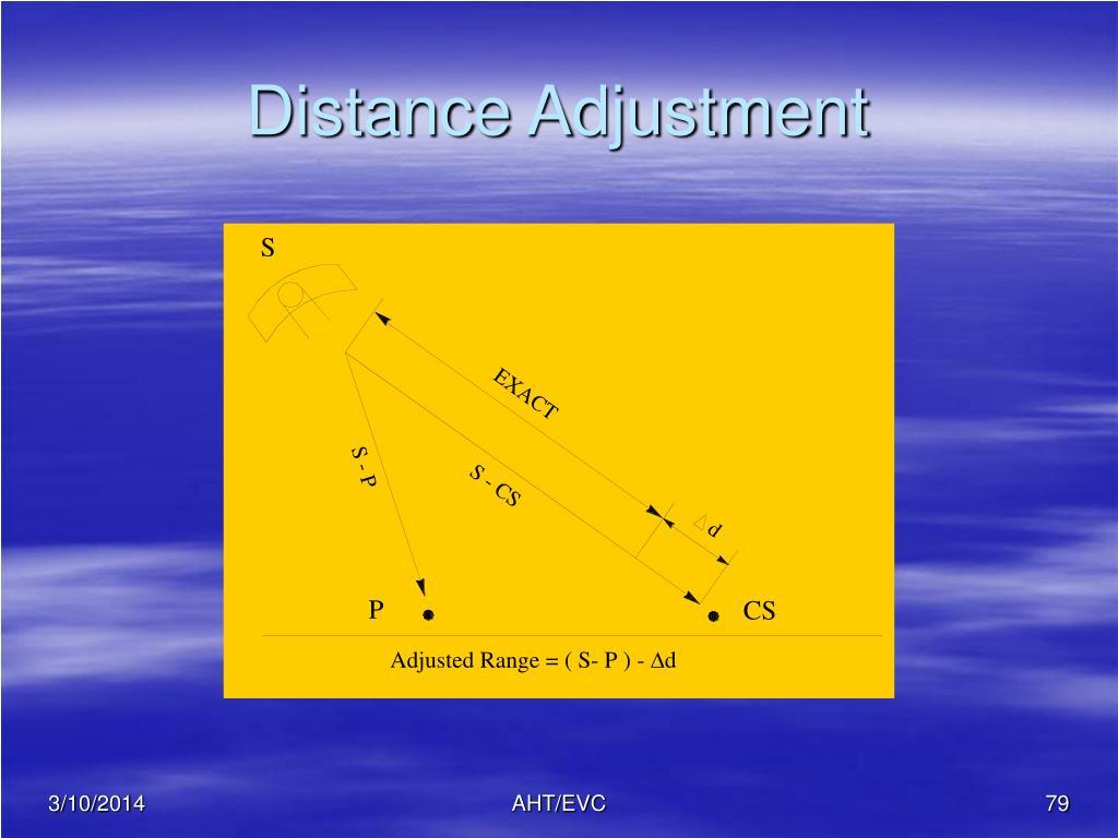 Distance Adjustment