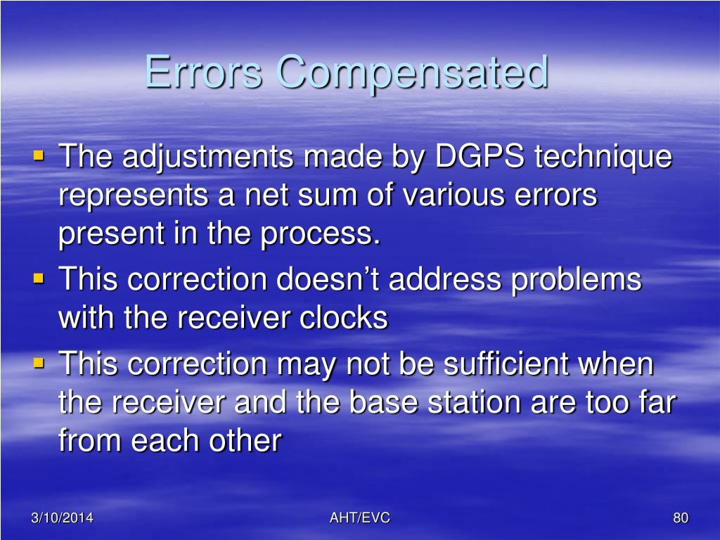 Errors Compensated