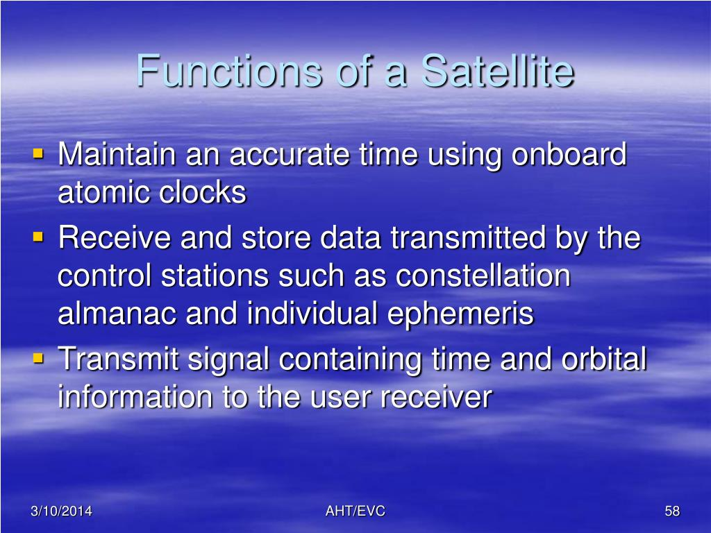 Functions of a Satellite