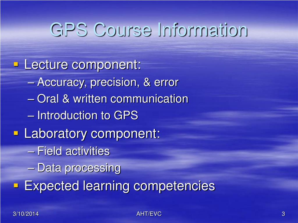 GPS Course Information