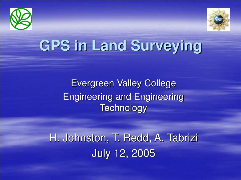 gps in land surveying l.