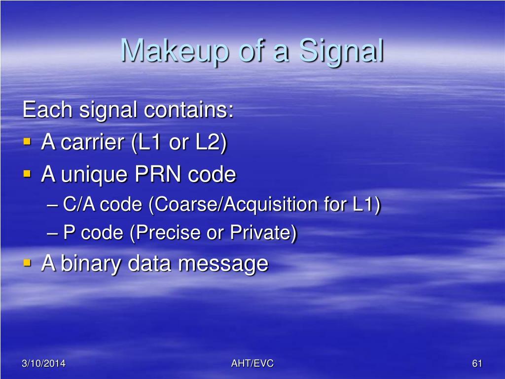 Makeup of a Signal