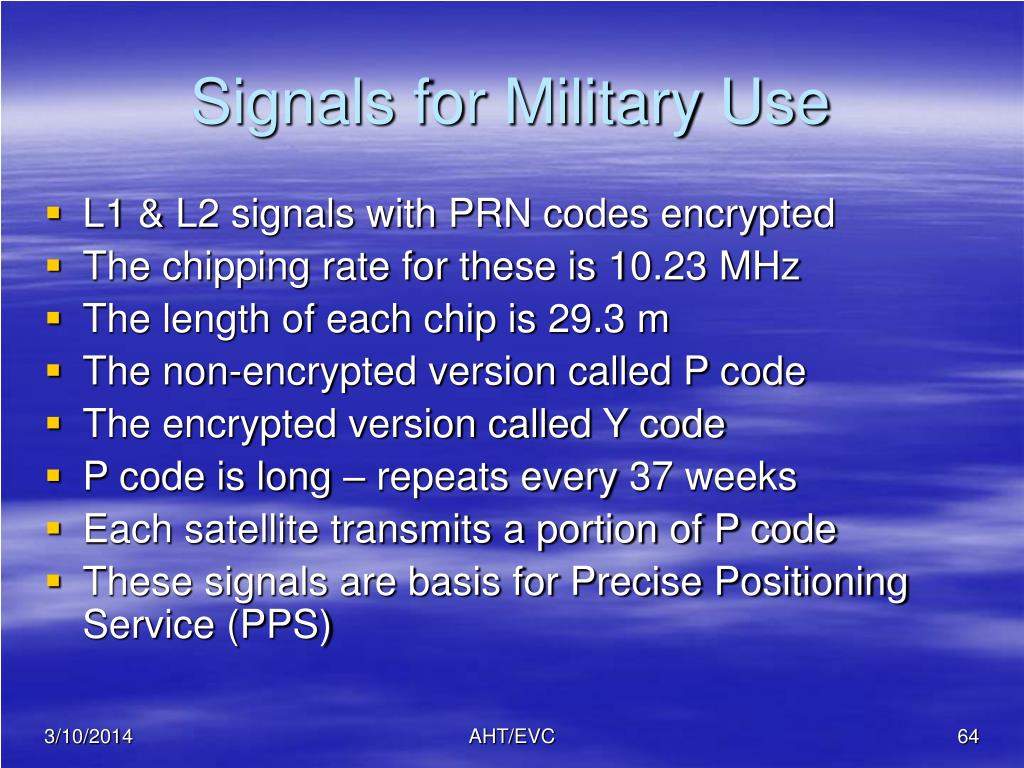 Signals for Military Use