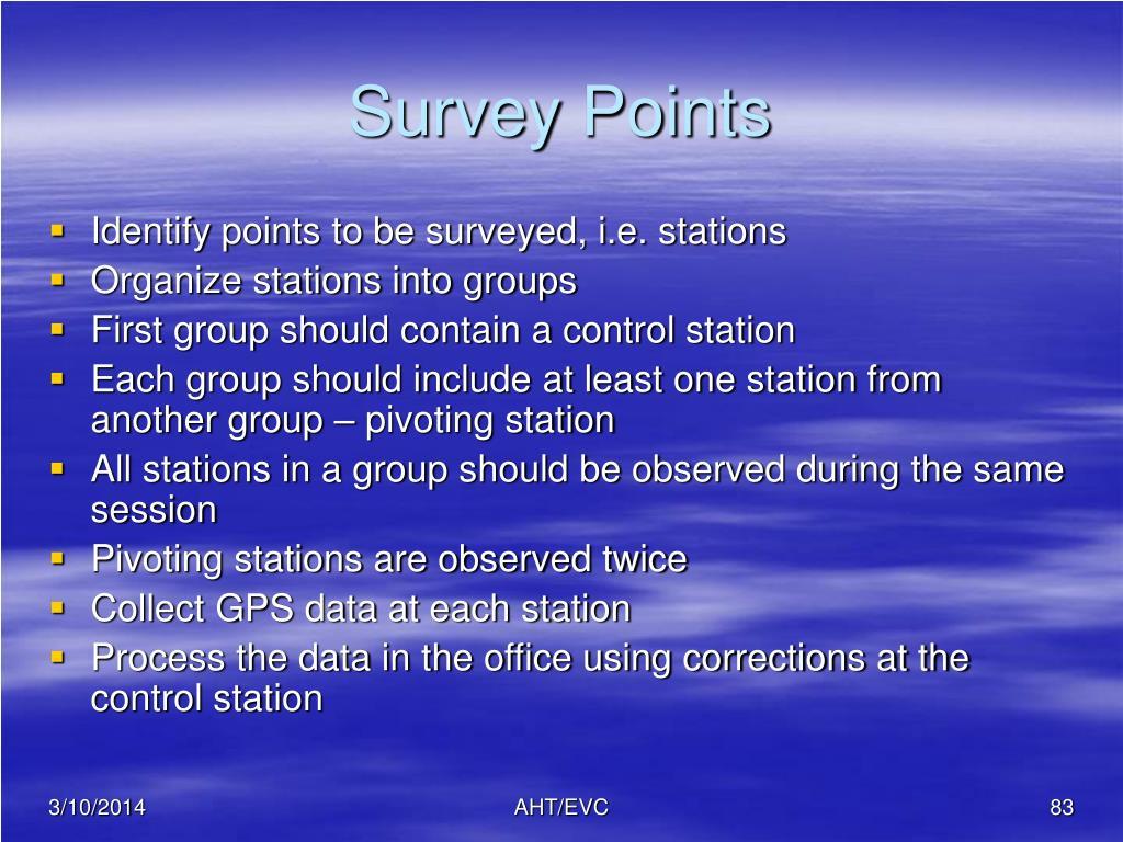Survey Points