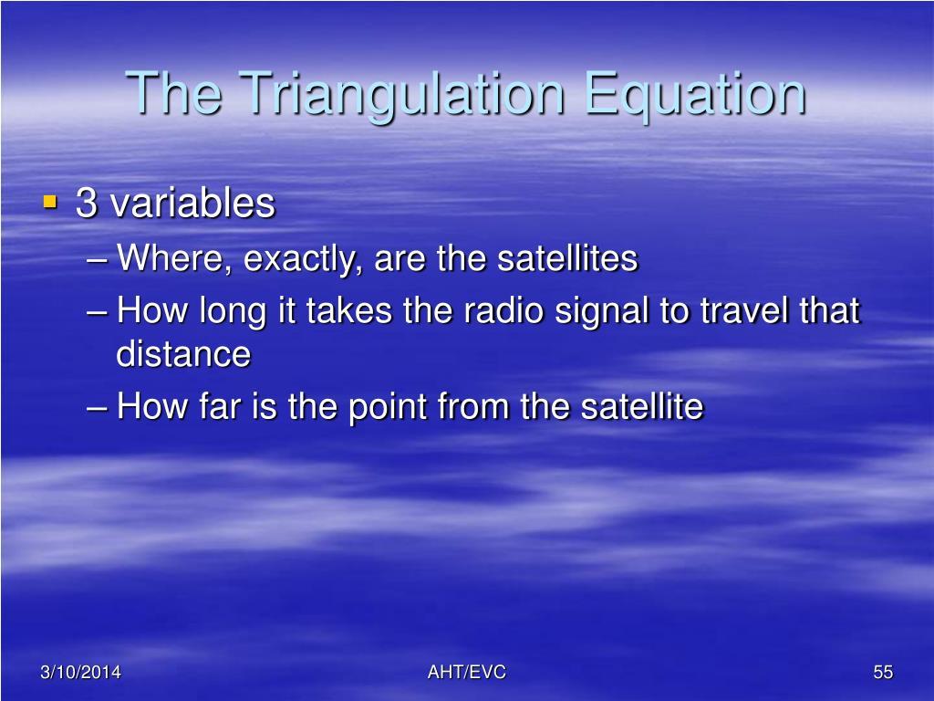 The Triangulation Equation