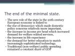 the end of the minimal state