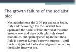 the growth failure of the socialist bloc