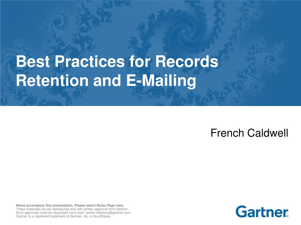 best practices for records retention and e mailing l.