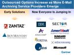 outsourced options increase as more e mail archiving service providers emerge