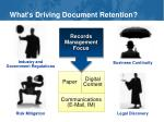what s driving document retention