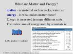 what are matter and energy