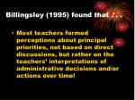 billingsley 1995 found that