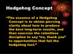 hedgehog concept57