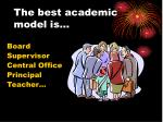 the best academic model is